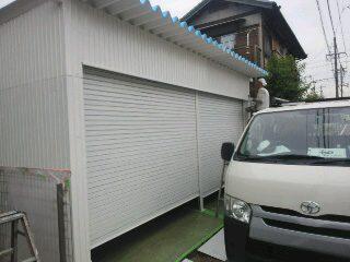 車庫 塗装1