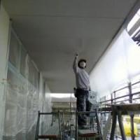 豊川市 店舗 軒天塗装
