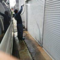 刈谷 車庫 水洗い2